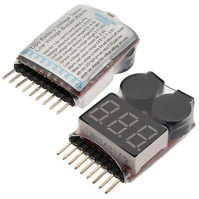 £5.05 • Buy 2 X RC Lipo Battery Low Voltage Alarm 1S-8S Buzzer Indicator Checker Tester LED