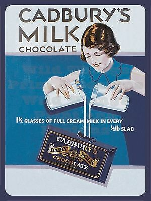 £11 • Buy Retro Metal Plaque : Cadbury's Milk Chocolate. Sign/ad