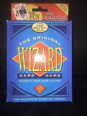 The ORIGINAL WIZARD CARD GAME Ultimate Trump Bidding Spanish French NEW SEALED • 9.99$