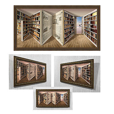 AU524.35 • Buy Reverspective, 3D Wall Art, Reverse Perspective Poster Library, Picture, Illusio