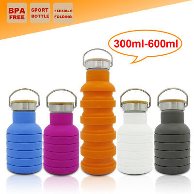 AU13.95 • Buy Collapsible Camping Water Bottle Gym Outback Office Training School Cup Kettle
