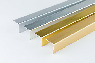 £5.99 • Buy +PVC CORNER 90 DEGREE- 20X10 Mm- ANGLE TRIM 2.5 METERS Gold And Silver