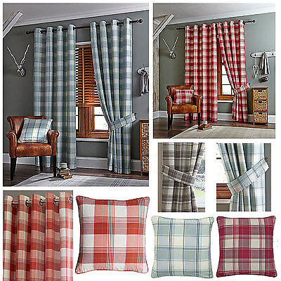 £3 • Buy Kindle Check Jacquard Ring Top Curtains (Pair Of) - NOW £10, £15 & £20 TO CLEAR