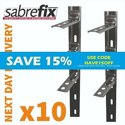 10 X Wall Starter Kits - Stainless Steel - Ties & Fixings UK MADE / NEXT DAY FOC • 47.65£