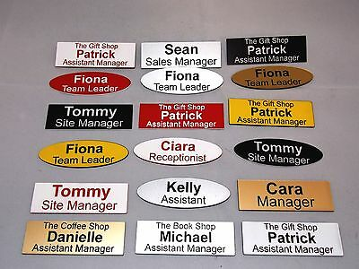 £1.25 • Buy High Quality Engraved Name Badges - Shops Clubs Pub Schools Offices Medical Etc.