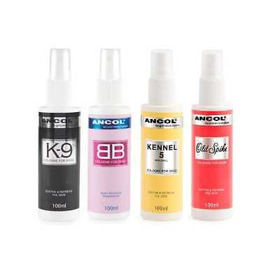 Ancol 3 Pack Dog Cologne Baby Powder / K9 / Kennel No 5 Sooth & Refresh. • 22.79£