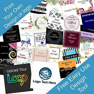 £2.99 • Buy Personalised 40mm Square Business/Company Name Labels/stickers, Thank You Seals