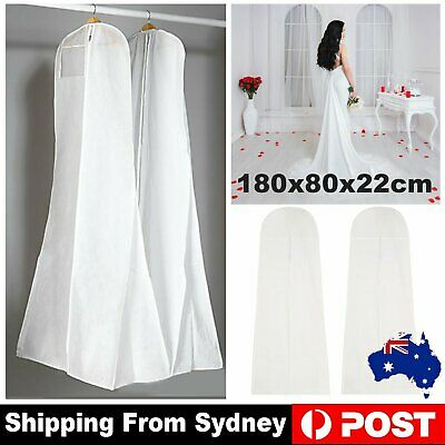AU13.99 • Buy Extra Large White Wedding Dress Cover Bridal Gown Breathable Garment Storage Bag