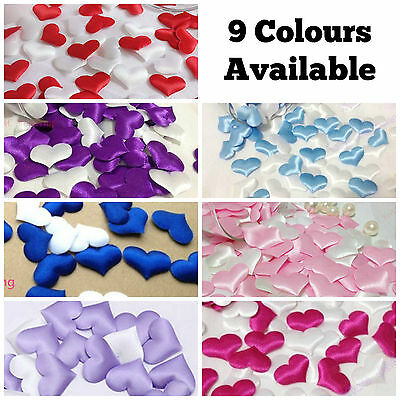 Satin Padded Fabric Love Heart Arts And Crafts Embellishment Card Decoration Diy • 0.99£