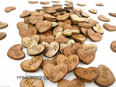 £2.99 • Buy Love Heart Table Decoration Wooden Rustic Wedding Vintage Favours Personalised