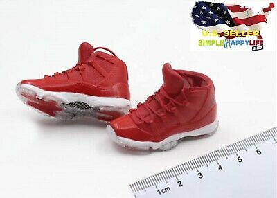 $17.84 • Buy 1/6 Male Red Sneakers AJ Shoes HOLLOW Basketball For Hot Toys Phicen ❶USA❶