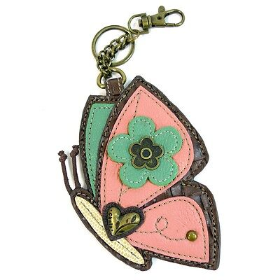 $15.50 • Buy Chala Faux-Leather Coin Purse / Key Fob - (Butterfly)