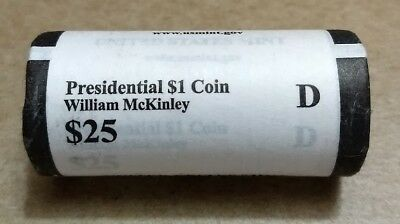 $73.95 • Buy 2013 D William McKinley Presidential  Unopened  Mint Dollar 25 Coin ROLL