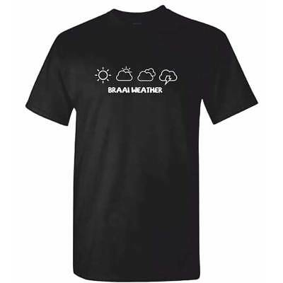 BRAAI WEATHER TShirt - Mens Funny South African Africa Barbecue T Shirt BBQ Gift • 8.95£