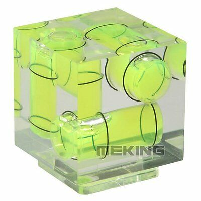 £4 • Buy Triple 3 Axis Hot Shoe Spirit Level Hotshoe Bubble For Canon Nikon DSLR Camera