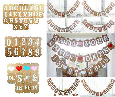 PERSONALISED BANNER Bunting Rustic Wedding Party Reception Baby Shower Birthday • 5.99£