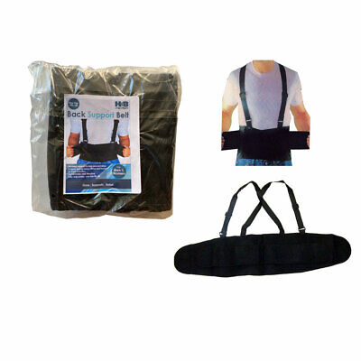 New - Back Support Belt Heavy Lift Lumbar  Brace Suspenders For Work Adjustable  • 13.49$