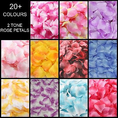 Silk Rose Petals Flower Table Decoration Confetti Wedding Engagement Party Dual • 8.79£