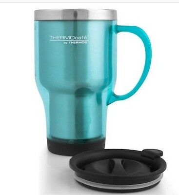 AU19.99 • Buy NEW Thermos Plastic Outer Travel Mug 470 Ml S/Steel Insulated Interior Coloured