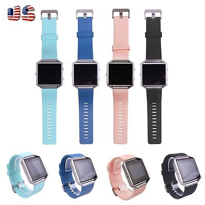 $ CDN4.82 • Buy Replacement Soft Silicone Band Strap Bracelet Wrist Band For Fitbit Blaze Watch