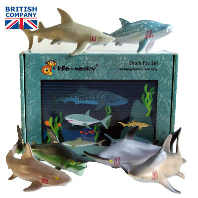 Shark Toy Animal Figures 6 Boxed - Buy Direct From The Importer UK, Ebay • 12.99£
