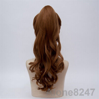 $19.35 • Buy New Long Vocaloid Miku Gakupo Purple Cosplay Wig Clip On Ponytails Gift