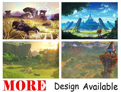 $11.99 • Buy Legend Of Zelda Breath Wild Link 36  X 24  Large Wall Poster Print Anime NEW #3