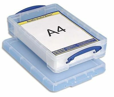 Really Usefull 4L Box Ideal For A4 Paper Card Storage Colour Clear 4 L Litre • 10.39£