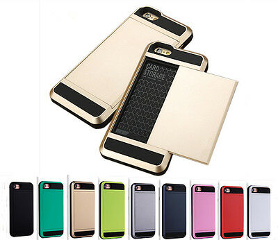 AU6.99 • Buy Slim Heavy Duty Shockproof Slide Wallet Card Case Iphone 5 6s 7 8 Plus X Xr Xs