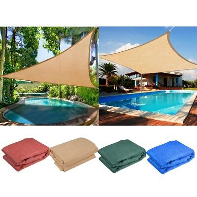 AU30.90 • Buy Sun Shade Sail Heavy Duty Outdoor Garden Canopy Cover Triangle Square Rectangle