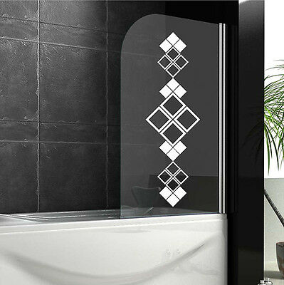 Bathroom Wall Stickers ORNAMENT Shower Screen Stickers WALL QUOTES DECALS  N23 • 5.55£
