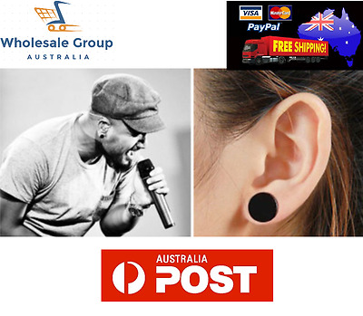 AU3.95 • Buy New 1pc 16g Black Fake Earplug Round Stretcher Plug Retainer Tunnel Ear Barbell