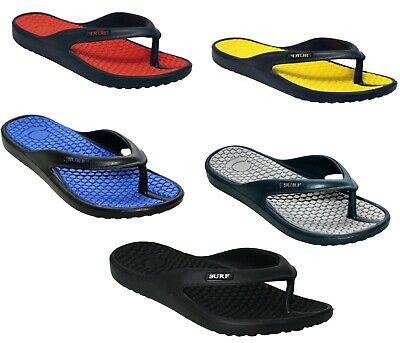 New Mens Flip Flops Kitchen Bathroom Beach Summer Toe Post Eva Sandal Surf Shoes • 7.90£