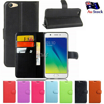 AU6.99 • Buy Leather Wallet Card Holder Flip Case Cover For Oppo A57 A5 AX5 +Screen Protector