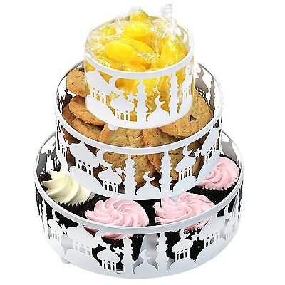 Eid Ramadan Circular Metal Cake Tin Treats & Sweets Serving Tray Tableware Tins  • 16.99£