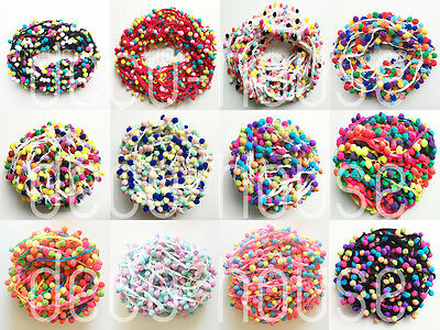 100 Designs! Balls Tassels Rainbow Pom Pom Bobble Trim Ribbon Craft Upholstery  • 2.29£