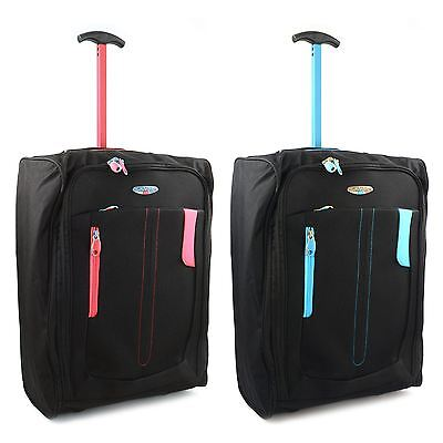 £13.45 • Buy Lightweight Wheeled Cabin Bag Hand Luggage Case Trolly Holdall Flight Suitcase
