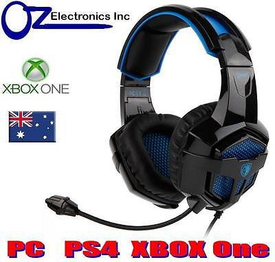 AU52 • Buy SADES BPOWER SA-739 XBOX ONE PS4 PC LAPTOP Gaming Headset Mic Chat BRAND NEW