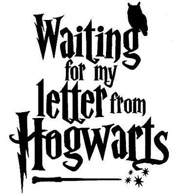 £3.74 • Buy Harry Potter Waiting For My Letter From Hogwarts  Cut Vinyl Wall Art Sticker