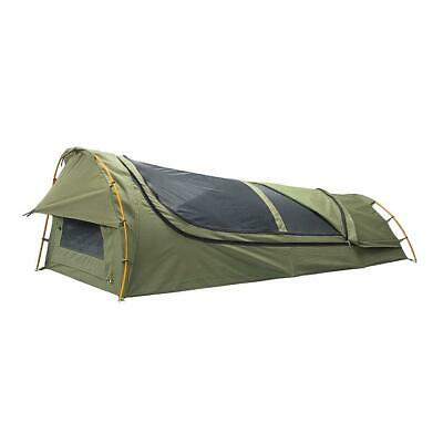 AU199 • Buy Oztrail Mitchell Expedition Green Single Canvas Dome Swag Brand New Csw-mies-f