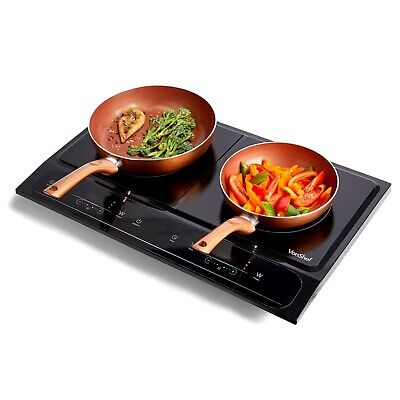 VonShef Induction Hob Double Portable Electric Twin Digital Hot Plate Ceramic • 94.99£