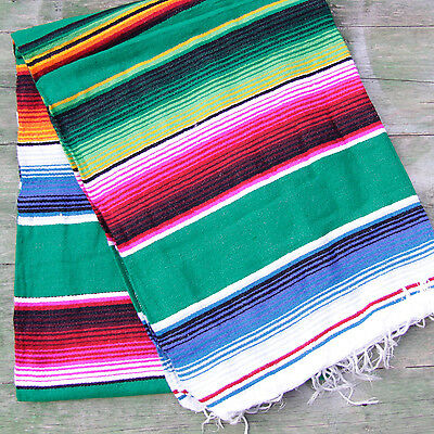 Mexican Stripey Blanket - Green • 32£