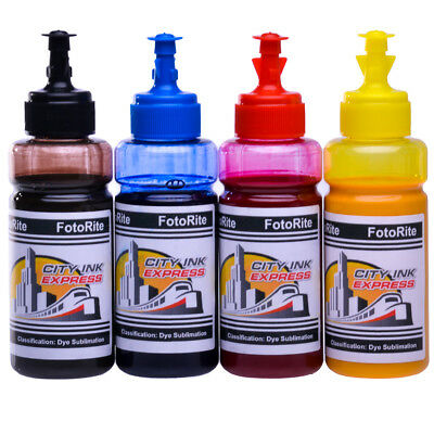 Heat Transfer Sublimation Dye Ink Refill Ricoh Printer 4 X 100ml Free ICC Profie • 49.99£
