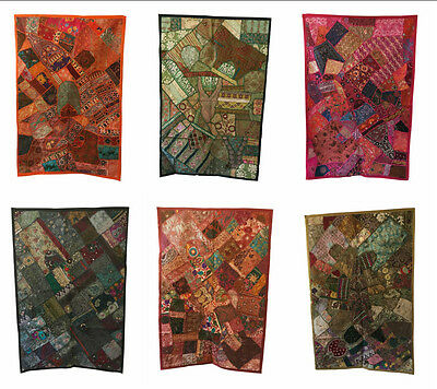 INDIAN Wall Hanging Tapestry Indian Embroidered Patchwork Ethically Sourced  • 29.99£