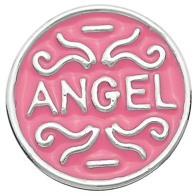 AU5.95 • Buy Noosa Chunks Ginger Amsterdam Style Snap Button Charms  ANGEL  Pink Enamel 20mm