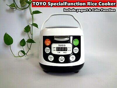 AU85 • Buy TOYO Multi-Function Rice Cooker/Keep Warm Heavy Duty Inner Pot 2L/4 Cups MBFS20