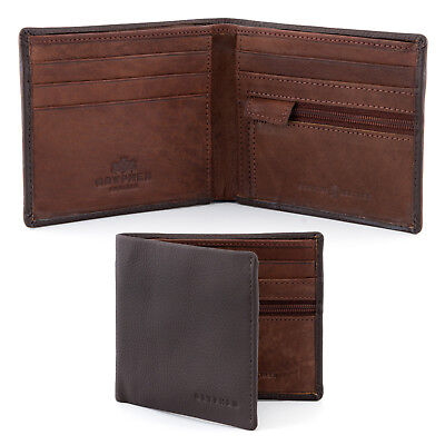 $ CDN23.67 • Buy Genuine Brown Leather Wallet For Men With RFID By Gryphen