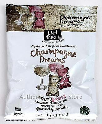 $8.95 • Buy Project 7 Champagne Dreams Brut & Rose Gourmet Gummies 2oz/57g Bag - Gummy Bears