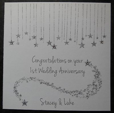 £3.90 • Buy Personalised Handmade Wedding Anniversary Card - 1st 2nd 3rd 10th 15th -ANY YEAR