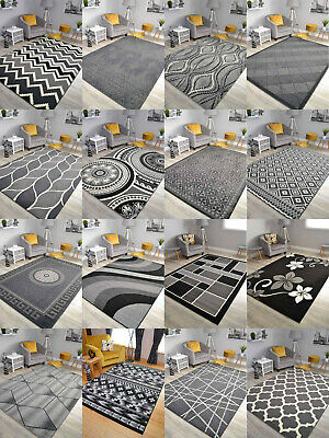 New Black Grey Silver Small Extra Large Big Huge Size Floor Carpet Rug Mat Cheap • 22.99£
